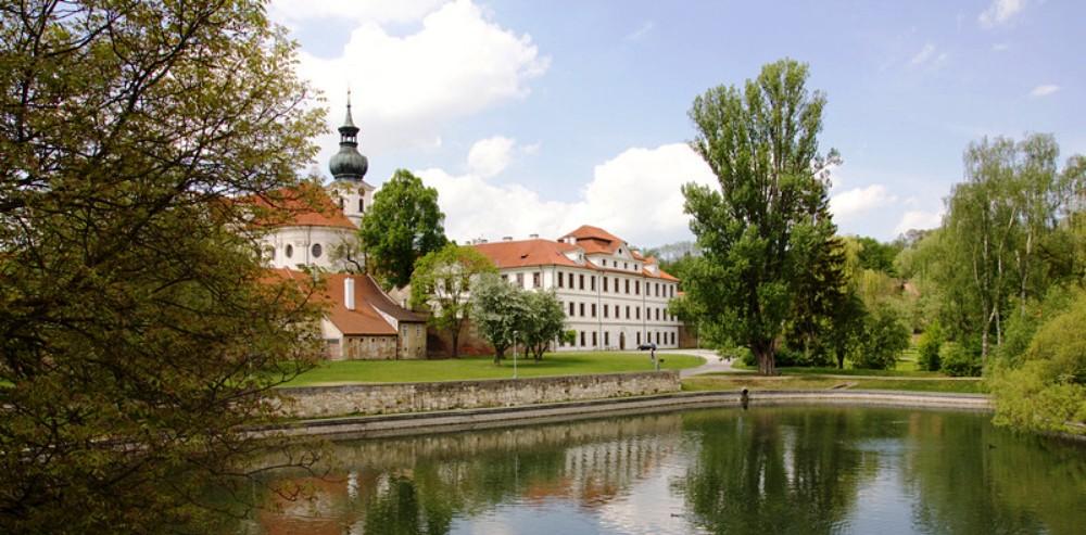Парк Брженовского монастыря.