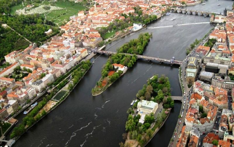 Острова Влтавы в Праге.