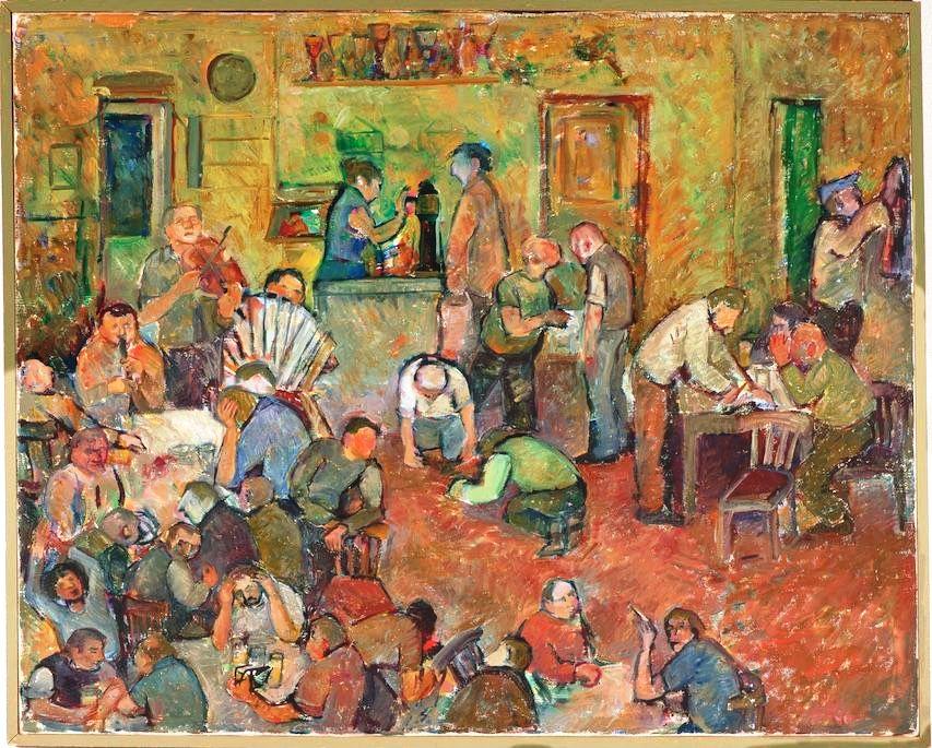 Чешская традиционная пивная глазами швейцарской художницы Дорис Виндлин.