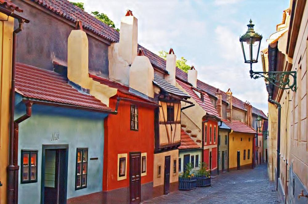 Золотая улочка - Пражский Град - Прага, Чехия.