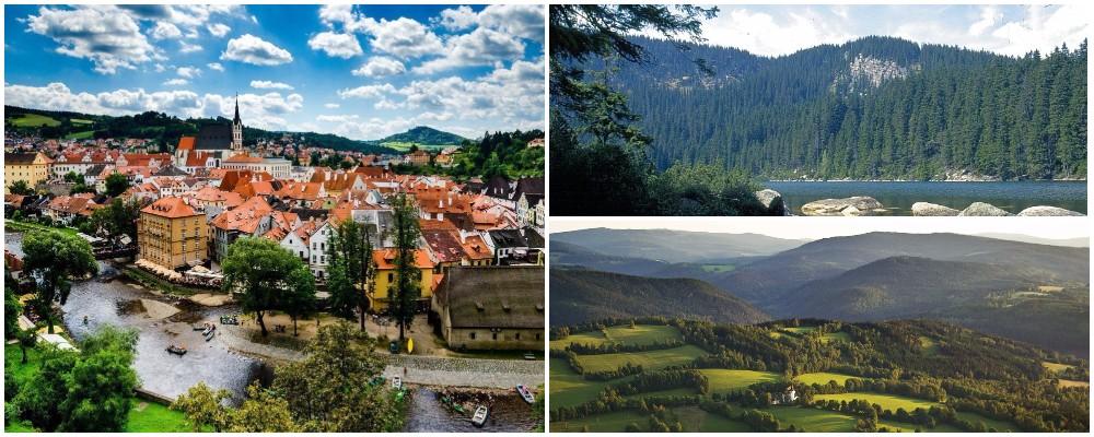Достопримечательности Чехии. Южная Чехия (город Чески-Крумлов и Шумавские горы).
