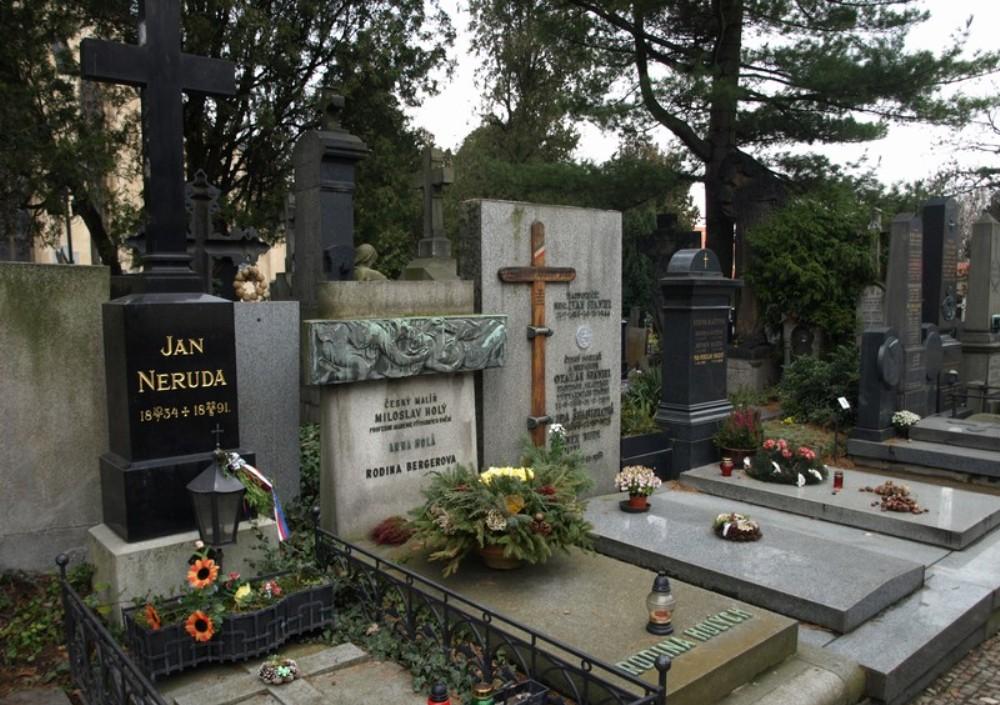 Вышеградское кладбище в Праге.
