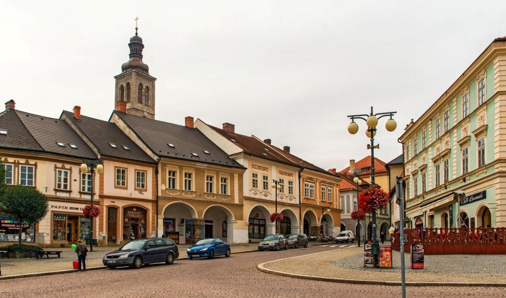 Кутна-Гора, площадь Палацкого - главная городская площадь.