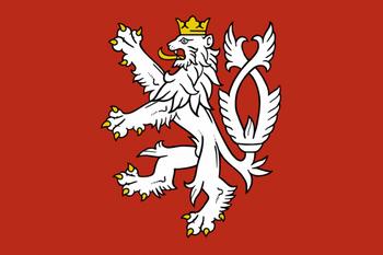 Гербовый флаг Чехии начала XX века.