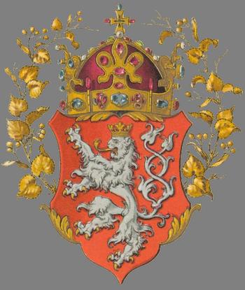 Герб Королевства Богемии в составе Австро-Венгрии.