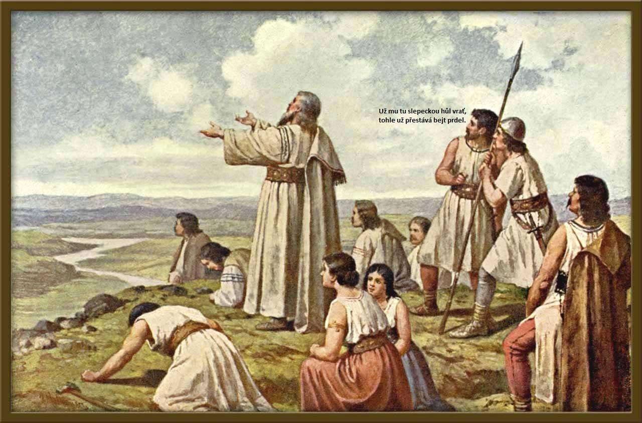 Праотец Чех на вершине горы Ржип.
