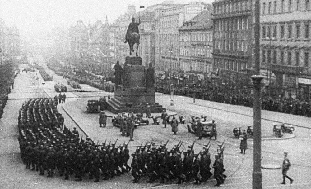 Нацисты в Праге, 1939 год.