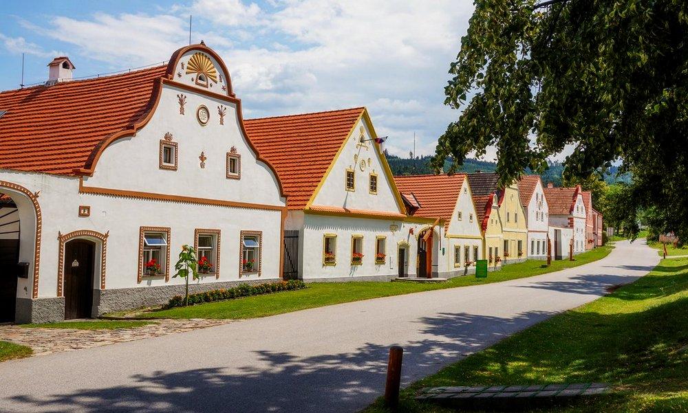 Деревня Голашовице в Чехии.