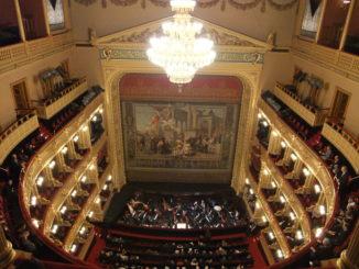 Народный театр в Праге, Чехия.