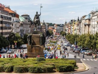 Вацлавская площадь (верхняя юго-восточная часть).
